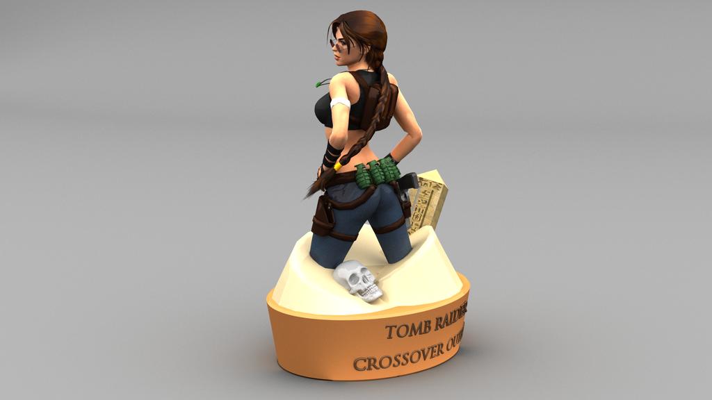 lara croft figurine by james c on deviantart. Black Bedroom Furniture Sets. Home Design Ideas