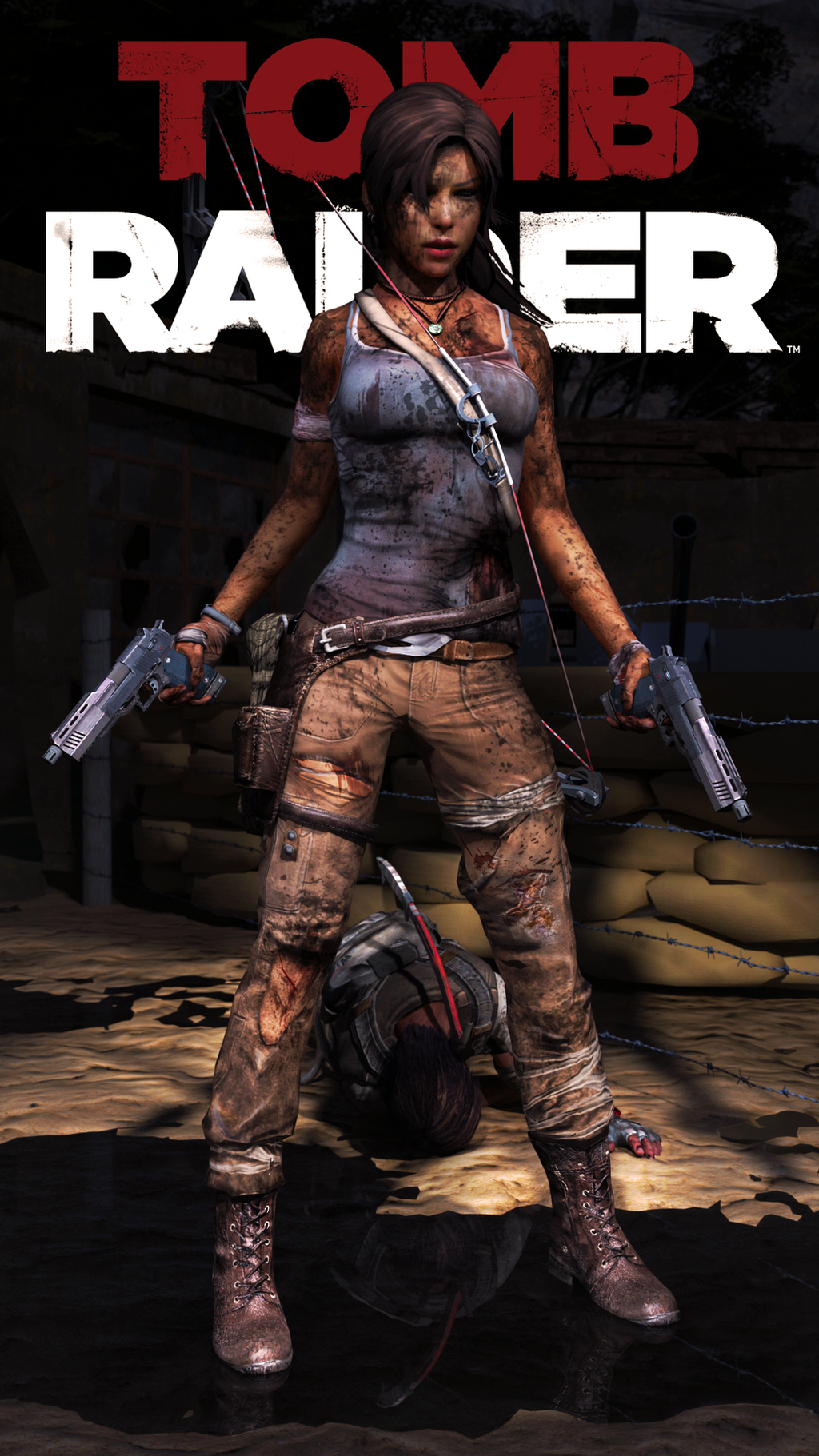 Tomb Raider - guns by James--C
