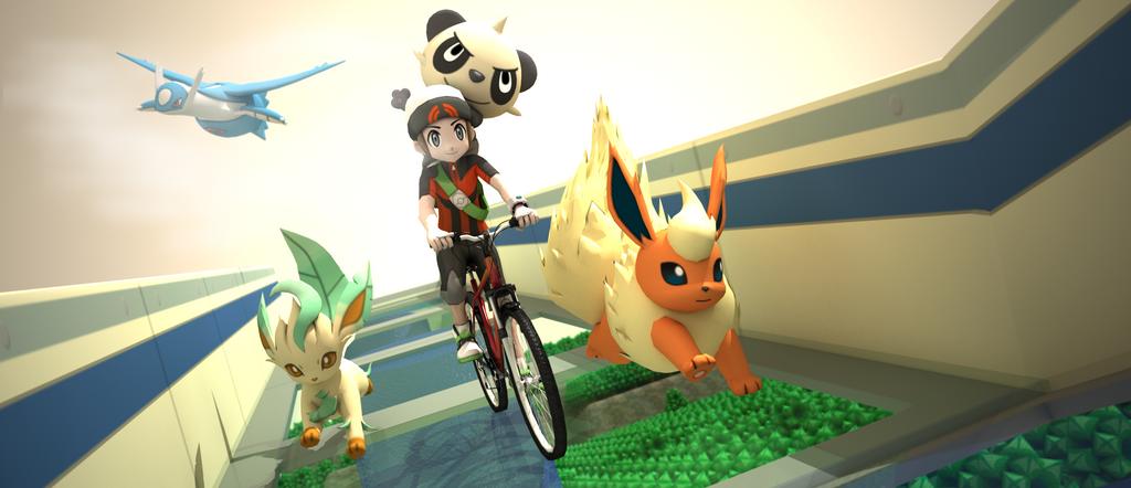 Pokemon - bicyle path ! by James--C