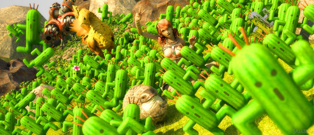 Cactuars are joy - Final Fantasy XIII by James--C