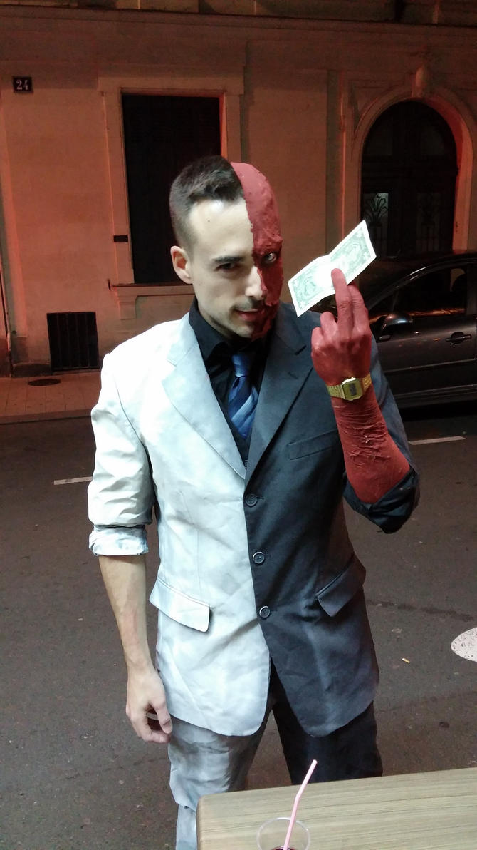 Two-face from Batman Arkham Knight cosplay by James--C