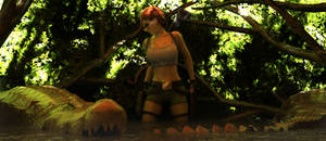 Tomb Raider III - South Pacifi and crocodiles