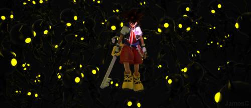 Kingdom Hearts - Sora and heartless by James--C