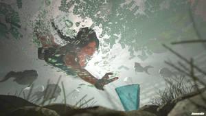 Lara Croft underwater - Tomb Raider III