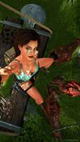 Lara Croft selfie