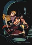 Zelda and Impa Escape