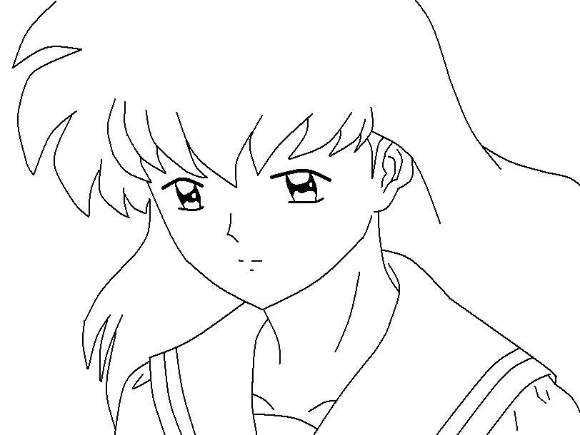 online coloring pages inuyasha - photo#31