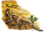 Sunbathing raptor