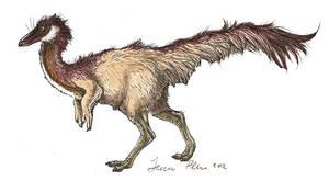 Juvenile Ornithomimus by novablue