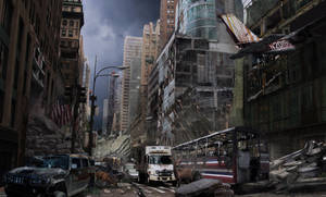 Post Apocalyptic city by graffiti-freak
