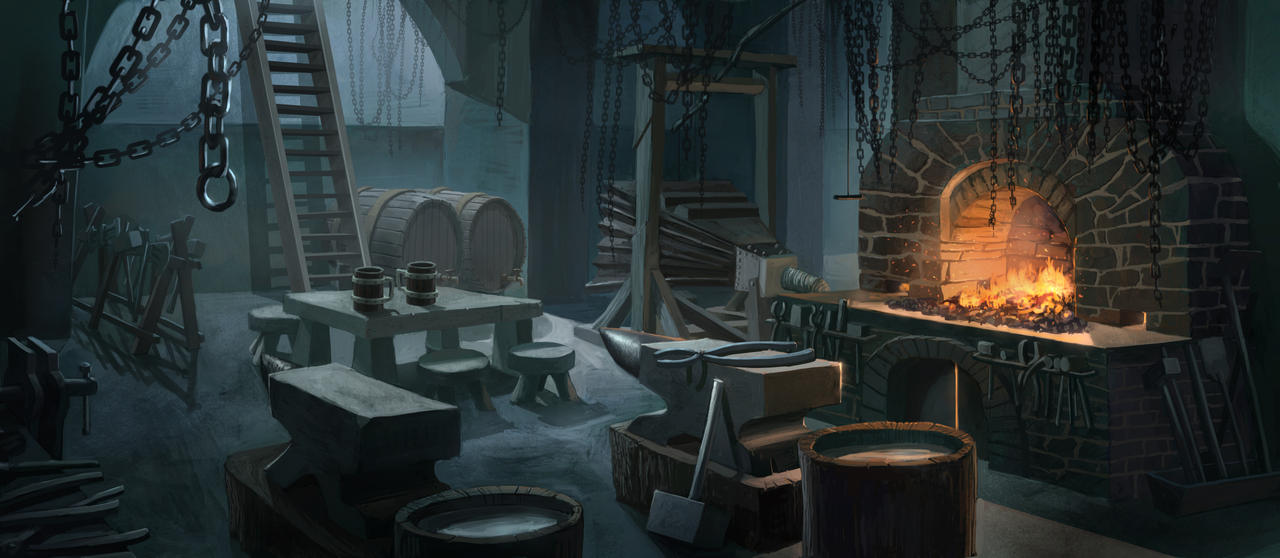 (Sugestão) Forja, novo Ofício e Perícias. Dwarf_forge_by_graffiti_freak-d4tcicx