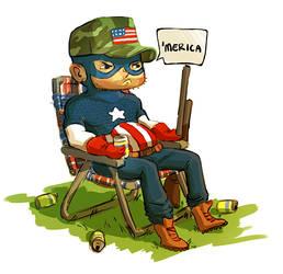 Captain 'Merica by mystcloud