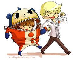 P4 Teddie and Nanako