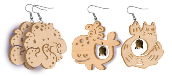 Wooden Charms for 2014