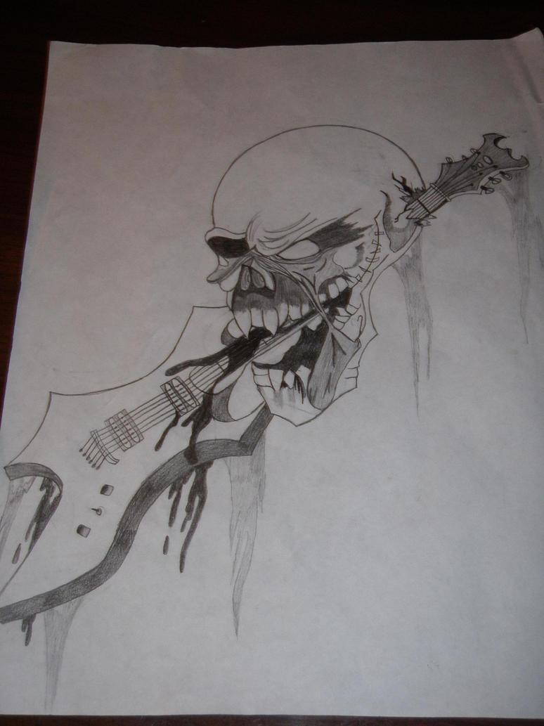 guitar skull thingy idk lol by KPRITCHETT14