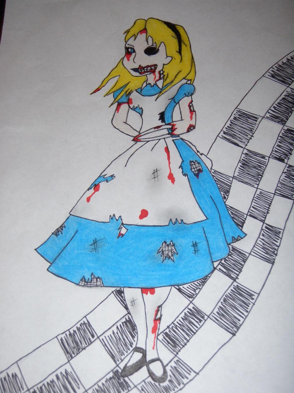 zombie alice by KPRITCHETT14