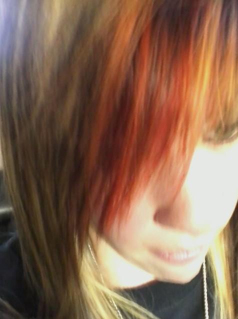 orange blonde hair by KPRITCHETT14