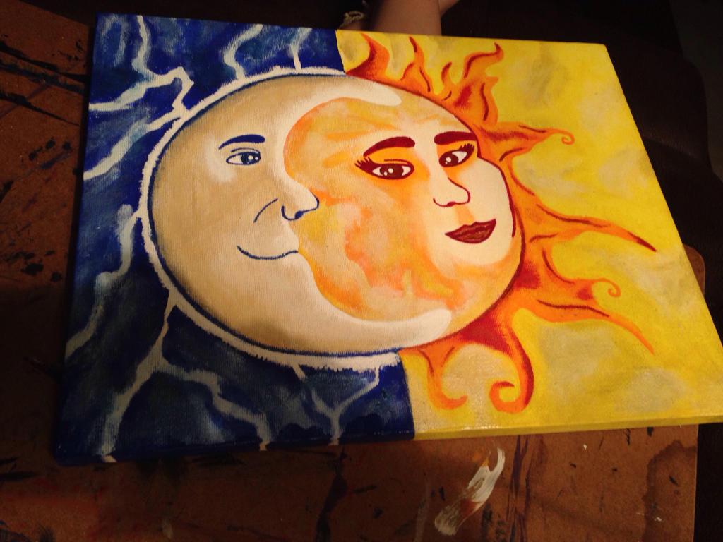 Moon and sun by KPRITCHETT14