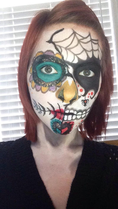 Day of the dead makeup by KPRITCHETT14