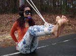 Taysia Blindfolded BallGagged Barefoot Toes Spread by pene4