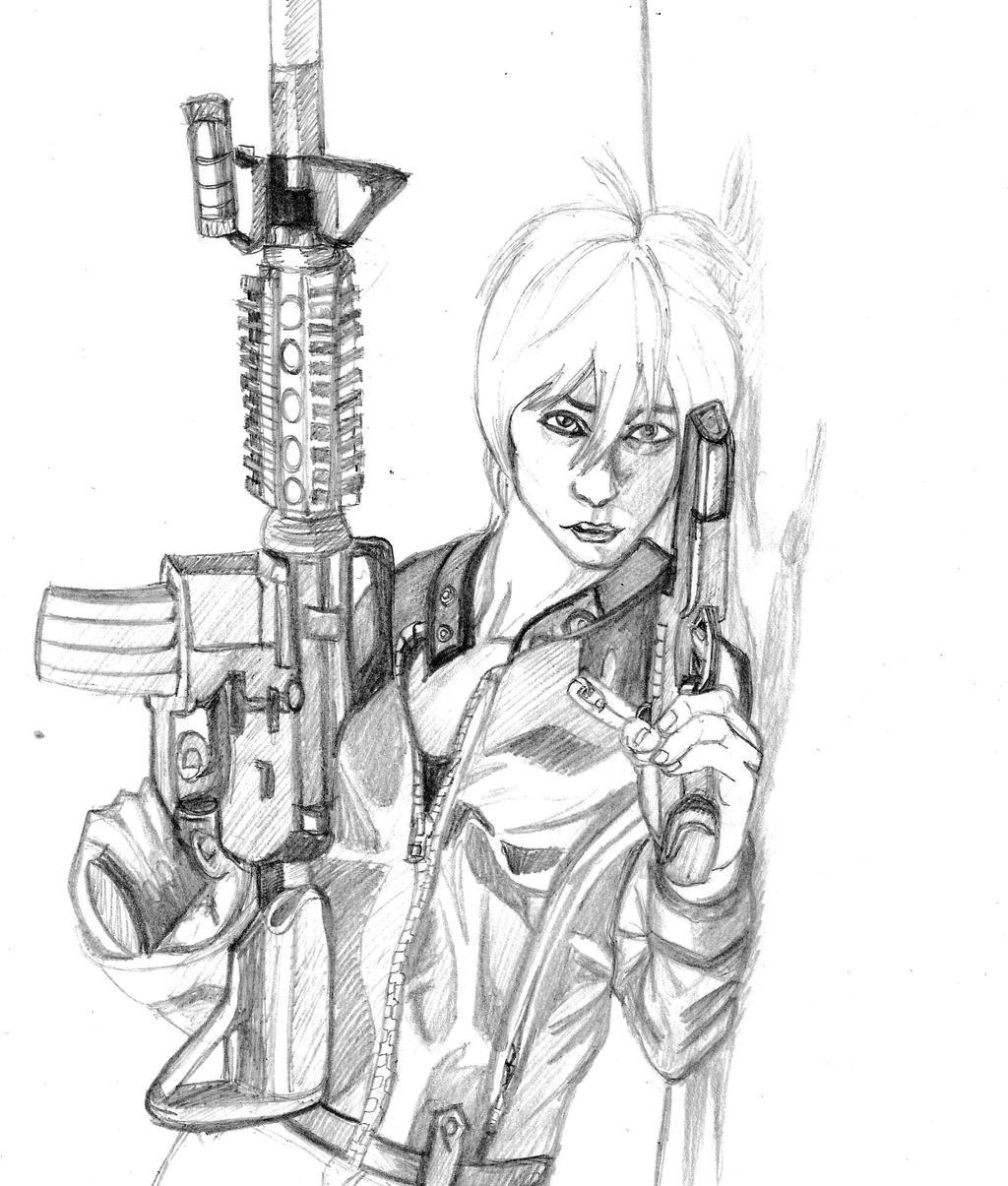 dessin portrait mangatise by yvelise
