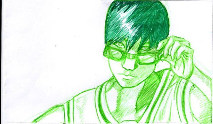 midorima Kuroko no basket portrait mangatise by yvelise