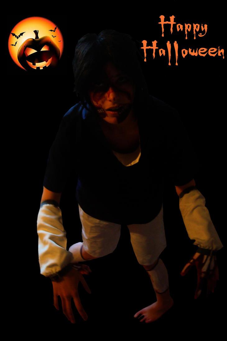 sasuke uchiwa zombi cosplay (naruto) by yvelise