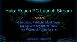 Halo Reach PC Release stream