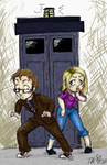 Tenth Doc and Rose with Tardis