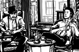 Holmes and Watson by nogoodlum