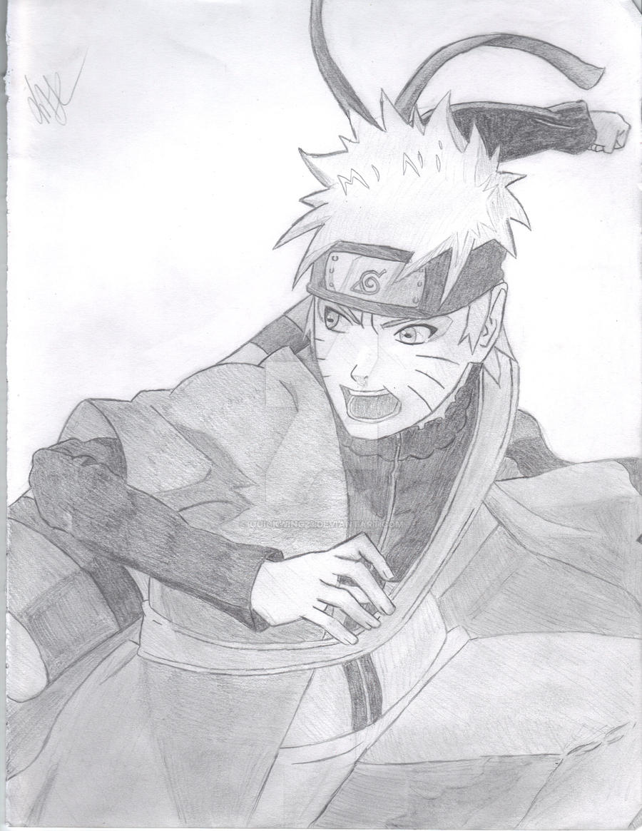Naruto Sage Mode by quickwing23