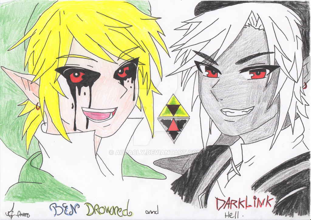 Dark link And BEN Drowned by Auracly