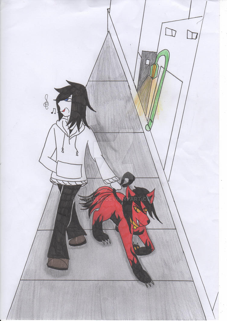 jeff the killer walking smile dog not finish by auracly