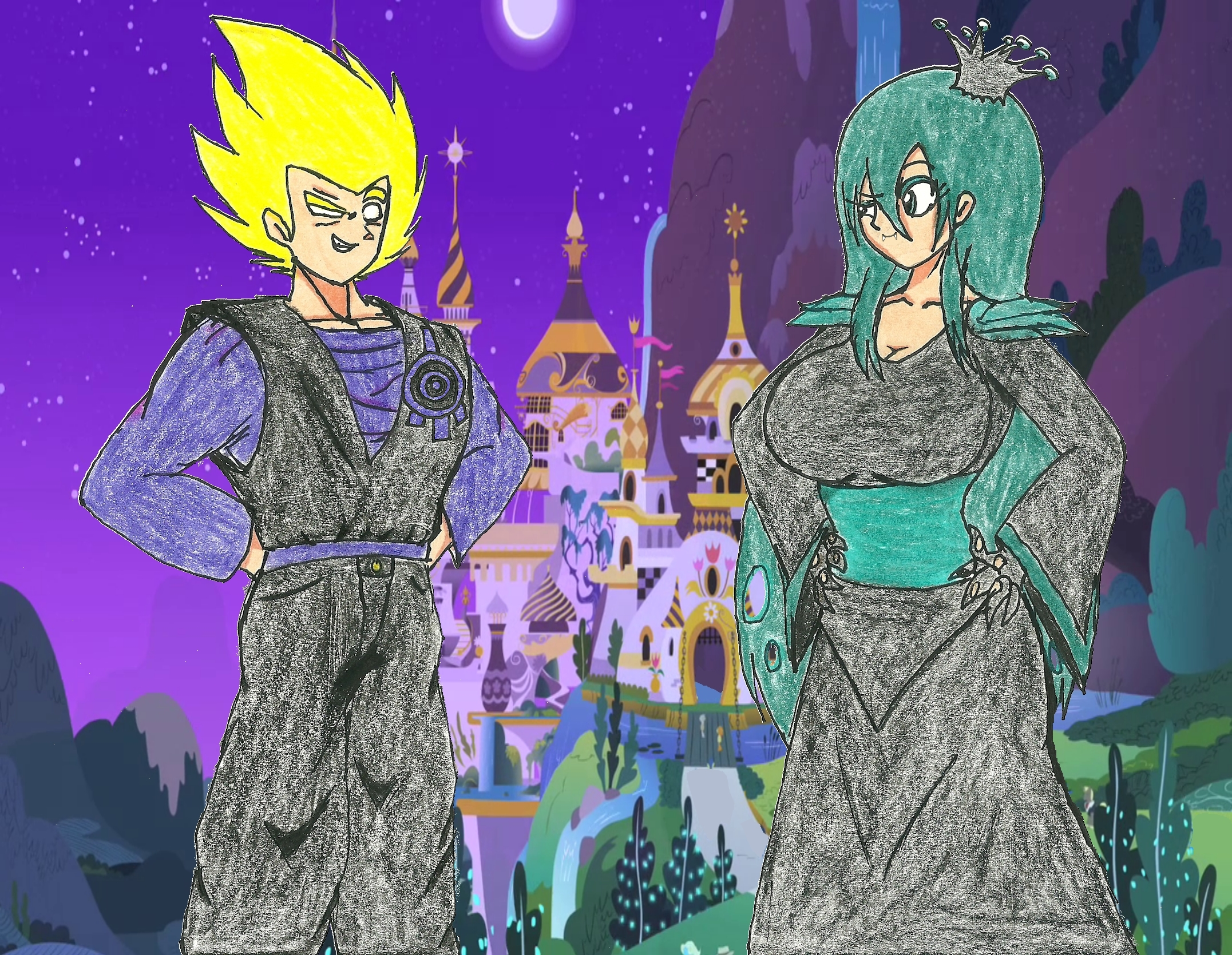 Code Lyoko Xana and Human Queen Chrysalis by WaRrior9100