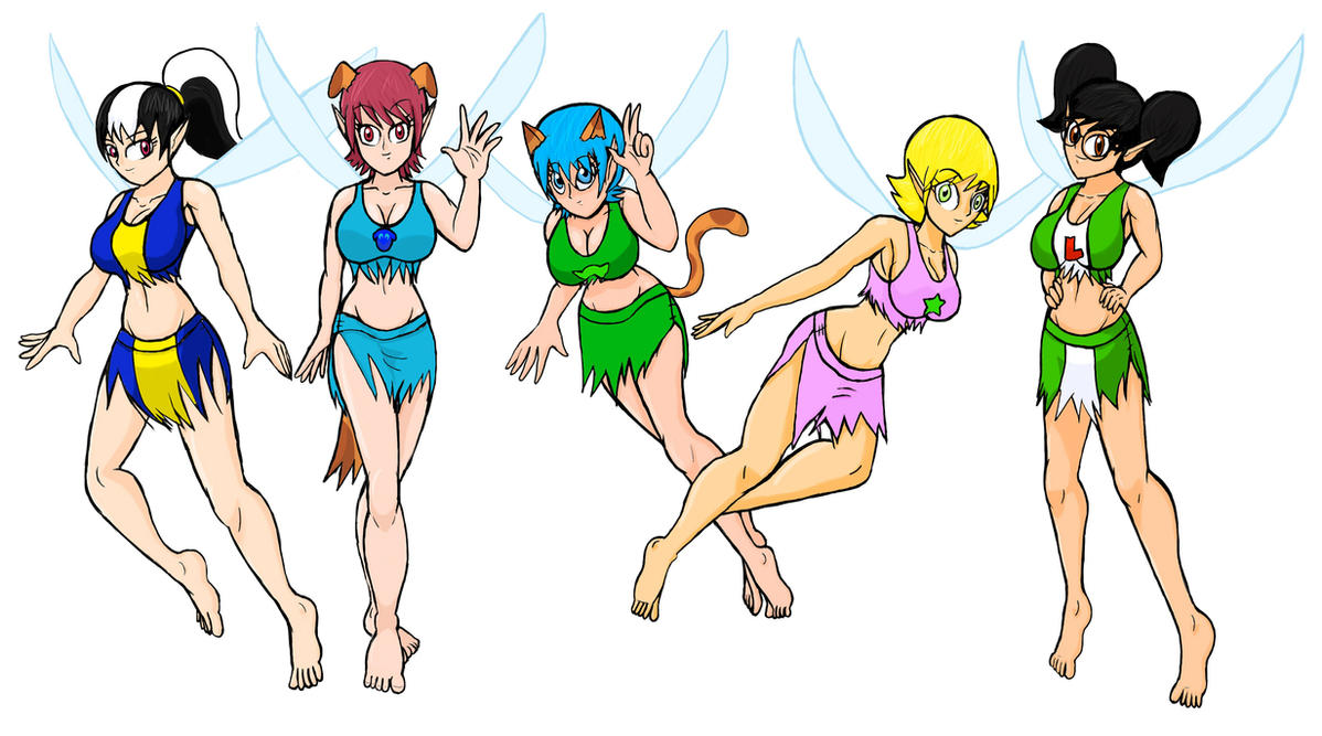 Art Trade 4: Ferngully style fairies of OC's by WaRrior9100