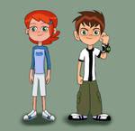 Ben and Gwen (Reboot) in original clothing