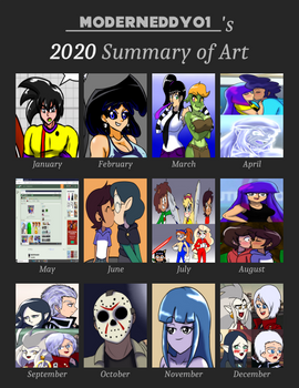 My 2020 Art Summary
