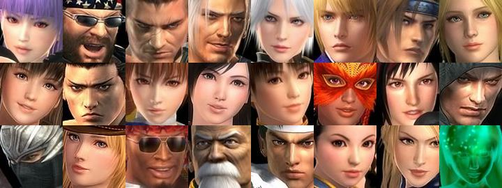 DOA5 FaceSet by PhoeChan
