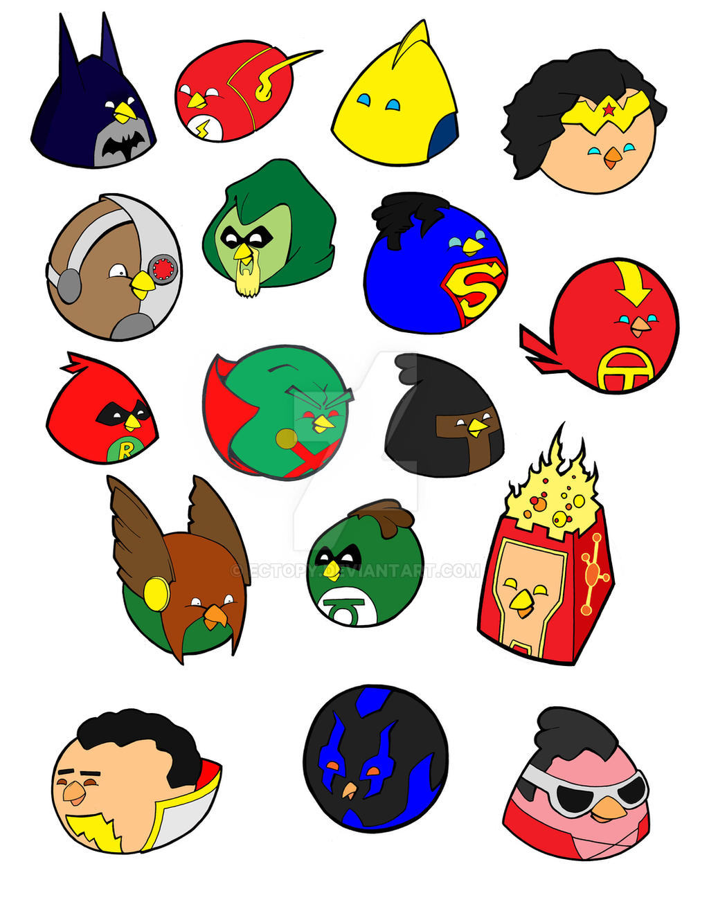 Angry Birds Heroes by MTP02 on DeviantArt