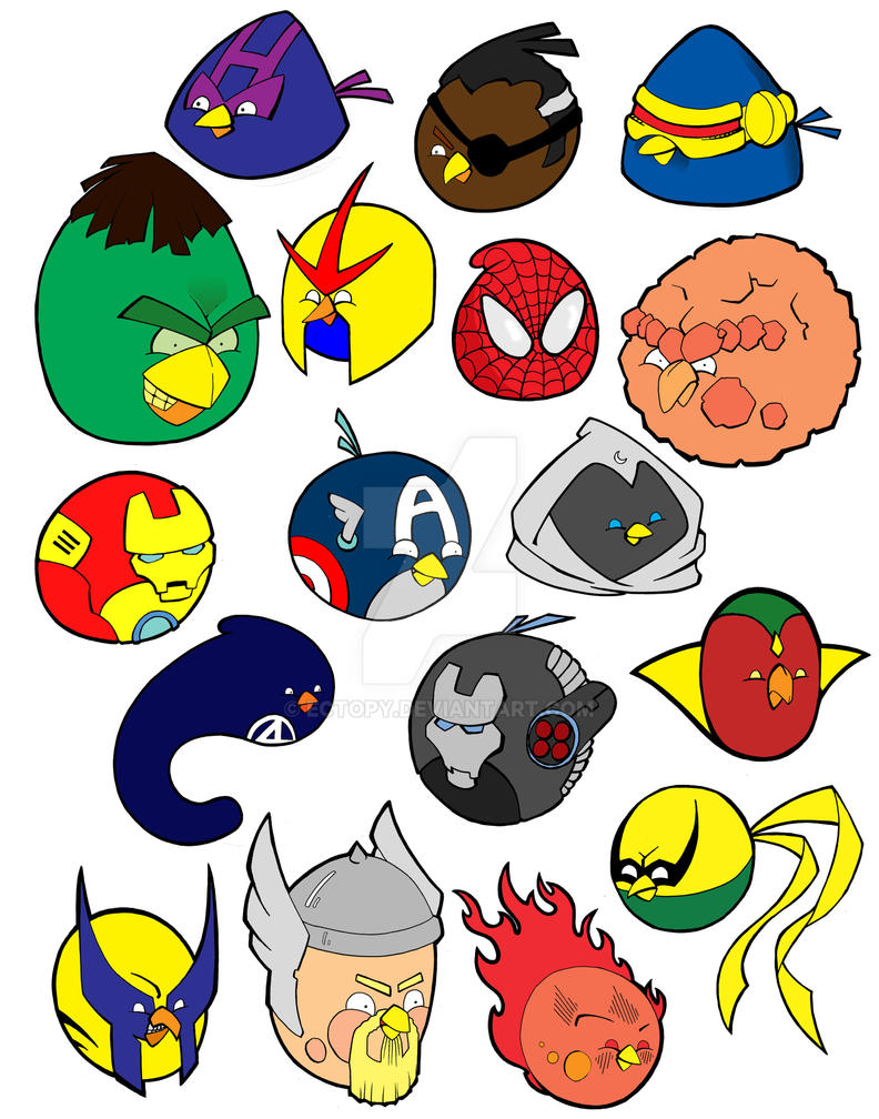 Marvel Heroes Angry Birds Fun By Ectopy On Deviantart