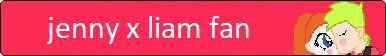 Jenny X Liam Fan Button