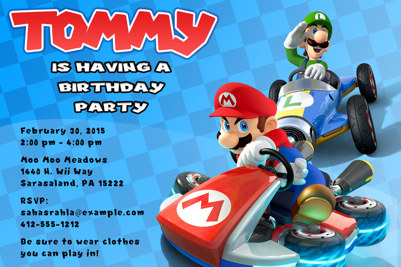 Mario Kart Birthday Invitation by jsterj007 on DeviantArt
