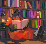 Pyro is reading