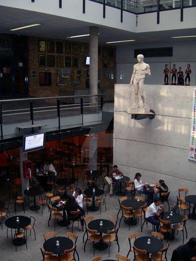 Cafeteria facultad de arquitectura unam by for Facultad de arquitectura