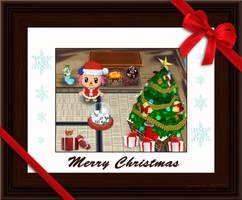 Animal Crossing xmas E-card by chidori69