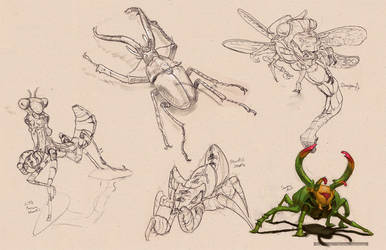 Insect Redesigns by Gygaxis