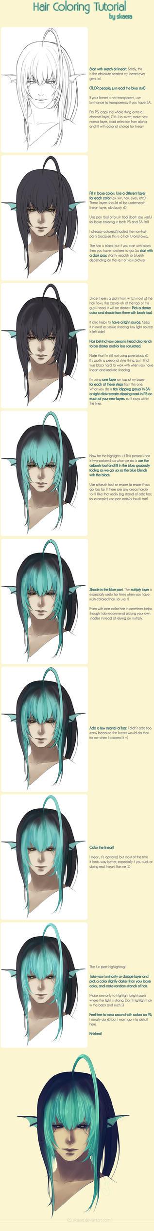 hair coloring tutorial by Skaera