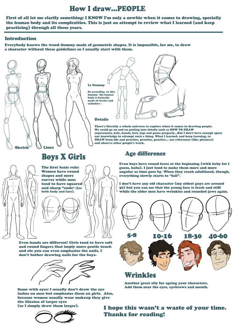 BASIC TIPS ON DRAWING HUMANS by MilGoncalez