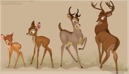 A deer's development by MilGoncalez