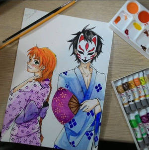 Jack and Bia - watercolor version.